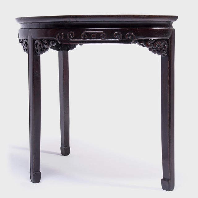 Asian 19th Century Chinese Demi-Lune Table For Sale - Image 3 of 8