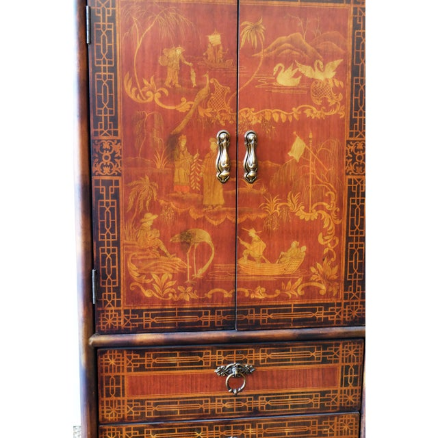 Late 20th Century Vintage Chinese Scene Chest, With 2 Drawers For Sale - Image 5 of 7