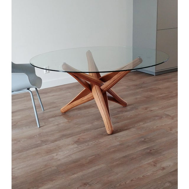 Mid-Century Modern Lock Bamboo Dining Table Base For Sale - Image 4 of 13