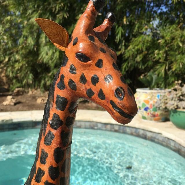 Vintage Bohemian Leather Giraffe - Image 3 of 8