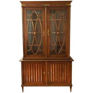 Fine Sheraton Style Mahogany Bookcase For Sale