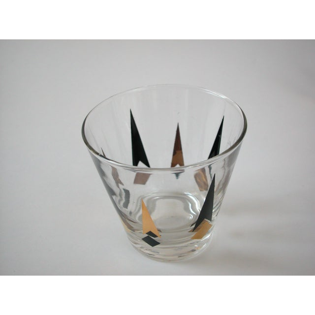 Black & Gold Lowball Glasses - Set of 4 - Image 8 of 8