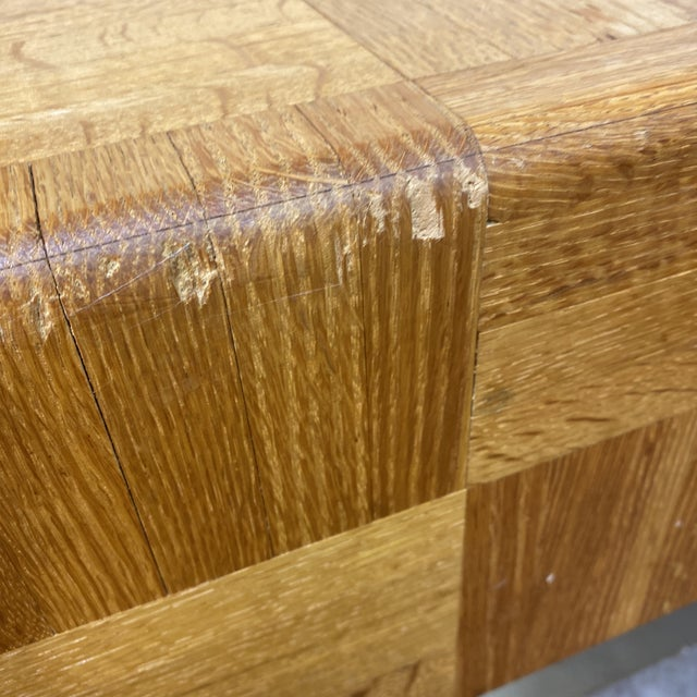1970s 70s Parquet End Tables- a Pair For Sale - Image 5 of 11
