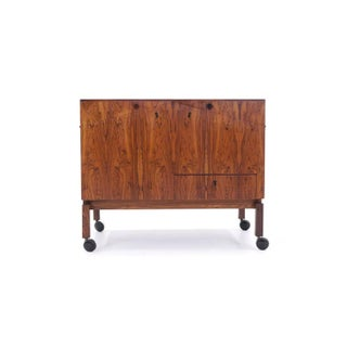 Leif Alring Rosewood Portable Bar Cabinet or Serving Cart Preview