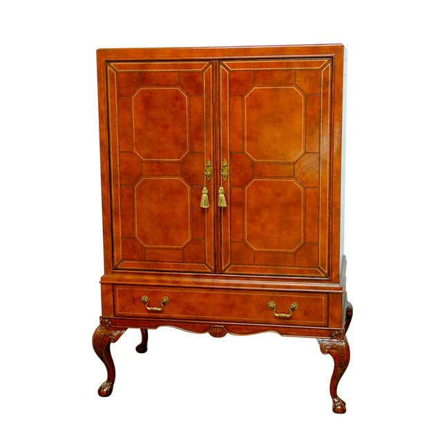 Maitland-Smith Leather Wrapped Cabinet - Image 1 of 6
