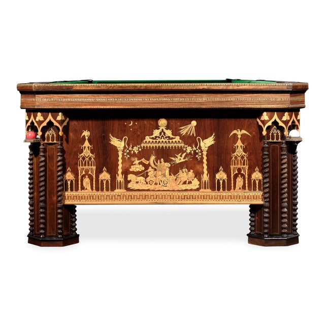 French Gothic Revival Billiard Table For Sale - Image 4 of 8