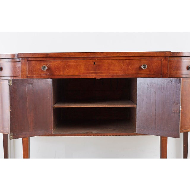 American Federal Mahogany Bow Front Sideboard For Sale - Image 11 of 13