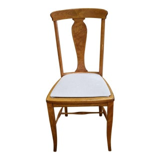 Restored T-Back Antique Side Chair in Cherry For Sale