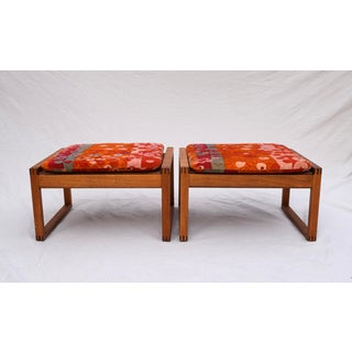 Danish Modern Benches by Borge Mogensen in Jack Lenor Larsen Velvet - a Pair Preview