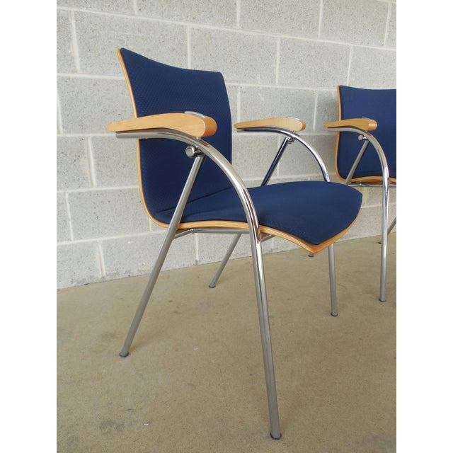 Thonet Chrome & Bent Wood Chairs - Set of 6 For Sale - Image 5 of 9