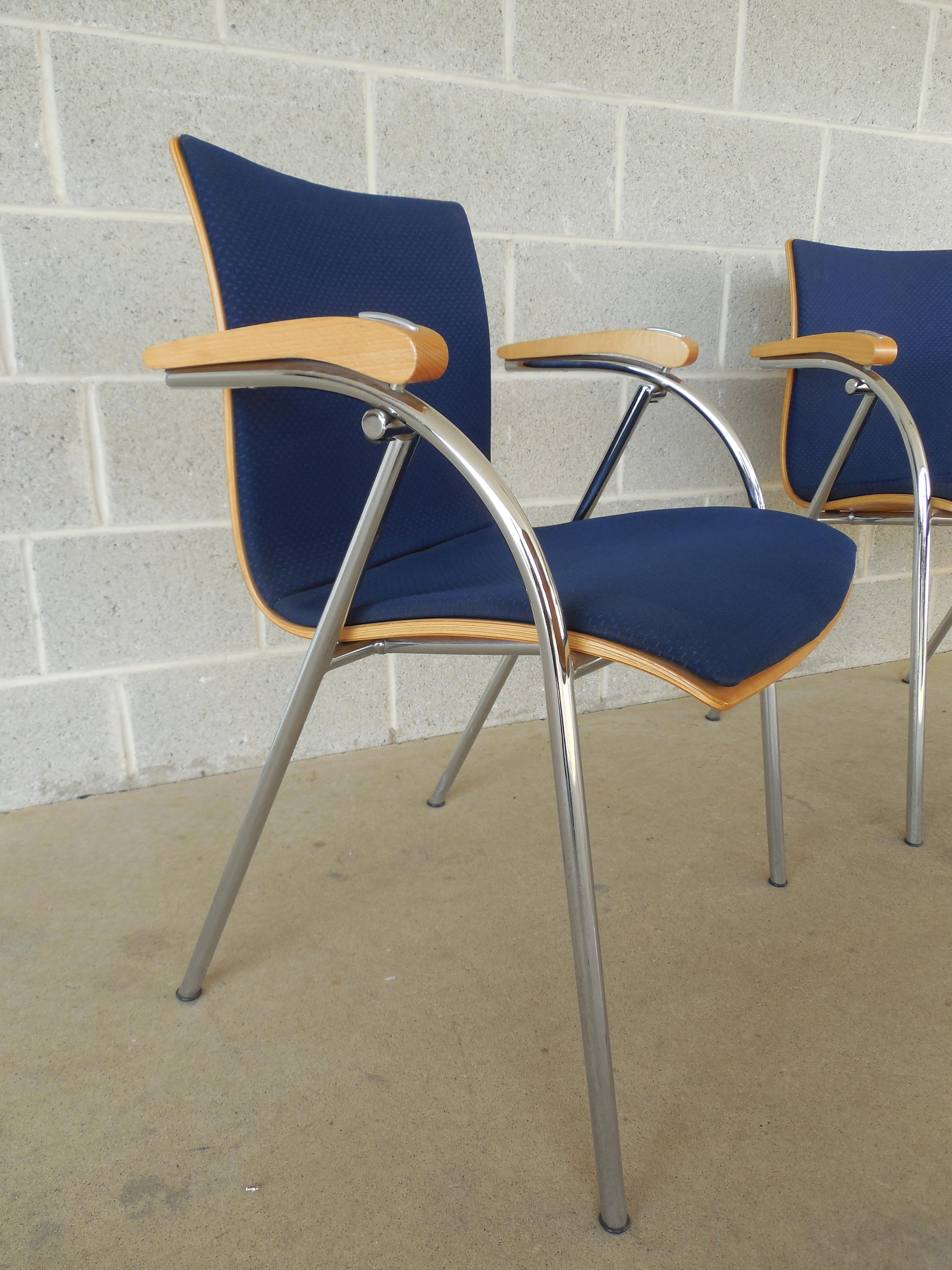 Thonet Chrome U0026 Bent Wood Chairs   Set Of 6 For Sale   Image 5 Of