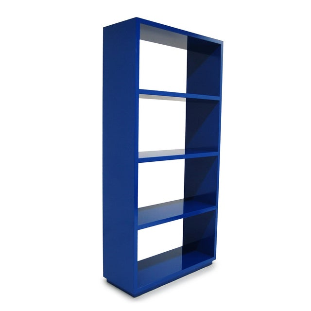 Clean-lined, functional, and versatile, the Jay Bookcase gives a room that needed strong jolt of color without going...