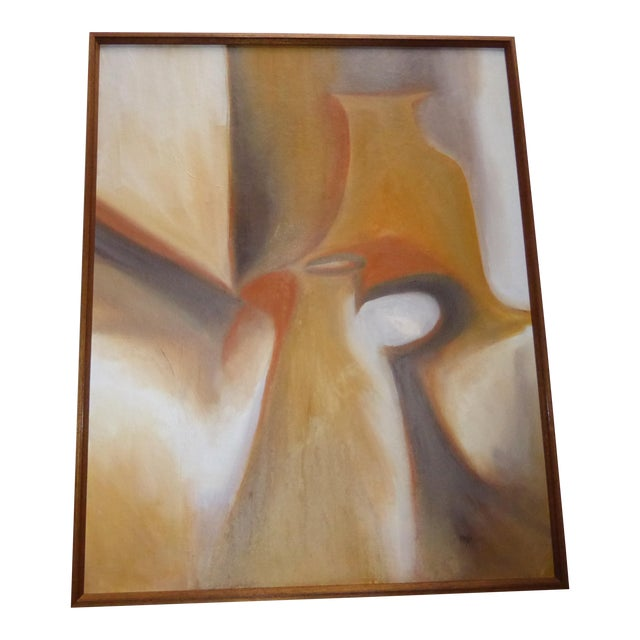 Contemporary Abstract Still Life Painting - For Sale