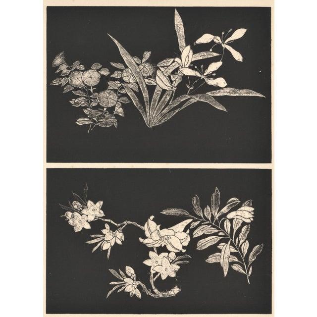 Art Deco Asian Botanical Design Print For Sale - Image 4 of 4