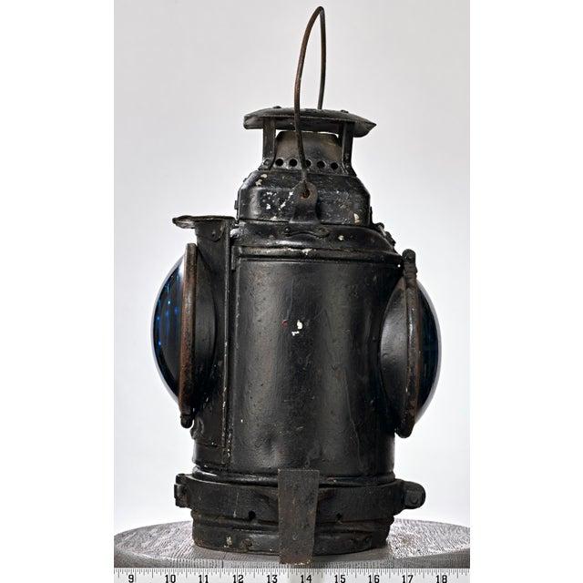 Three Lens Adlake Railroad Switching Lantern/Light For Sale - Image 10 of 12