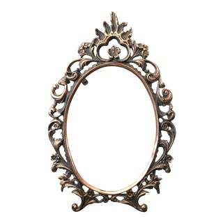 Vintage Baroque Metal Frame For Sale