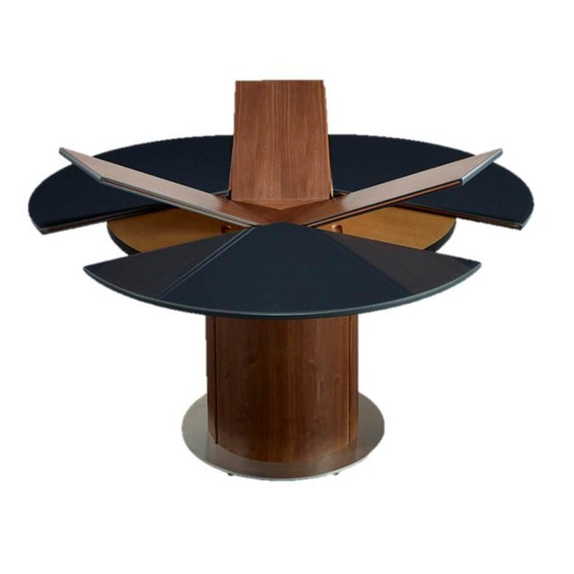 Black Extending Roung Dining Table by Skovby - Image 3 of 3