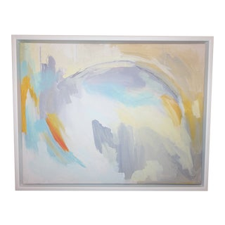 "Linda Colletta ""After the Rain"" Framed Abstract Giclee Painting on Canvas For Sale"