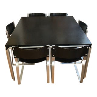 Pierre Mazairac Mid-Century Modern Dining Table & Chairs Set For Sale