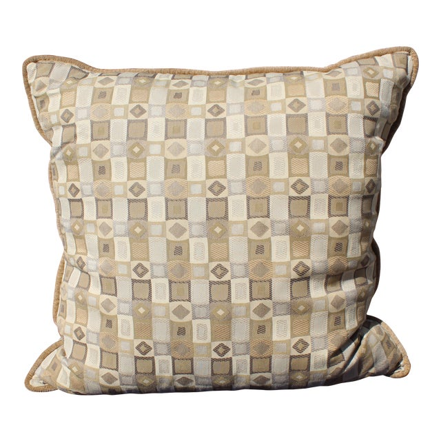Possible Mid Century Down Filled, Nice Deep Sized Pillow For Sale