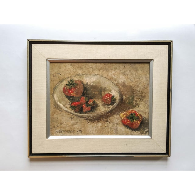 1970's Oil Still Life Painting of Strawberries, Signed by Artist Masterson and Dated 1972 For Sale In New York - Image 6 of 6