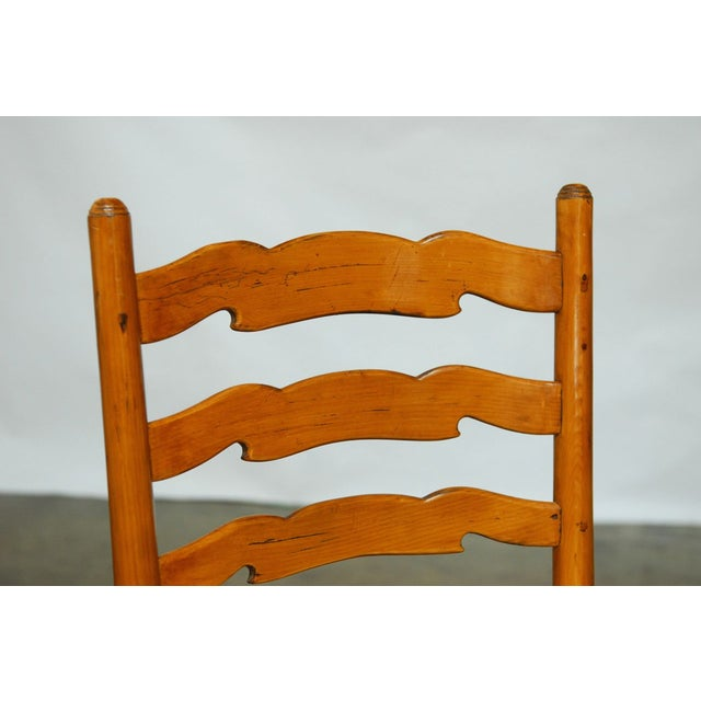 English Ladder Back Dining Chairs - Set of 8 - Image 6 of 10