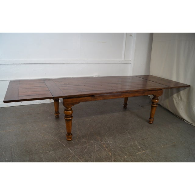 Rustic Farmhouse Style Refractory Dining Table - Image 6 of 10