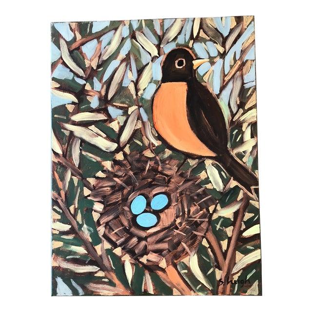 Philadelphia Illustrator Stephen Heigh OriginalRobin's Egg Painting For Sale