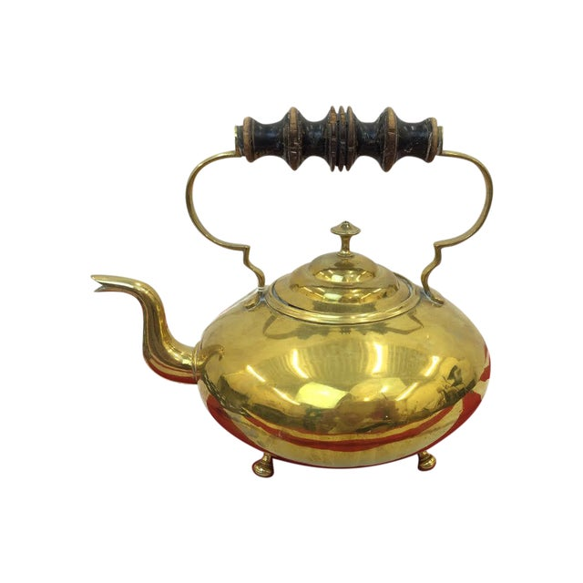 Vintage Brass Tea Kettle For Sale