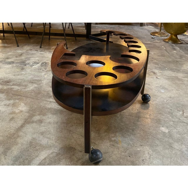 Metal Ico Parisi Sculptural Open Bar Coffee Table Mod. Idra, Italy, 1960s For Sale - Image 7 of 10
