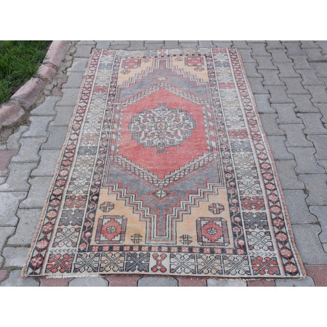 Distressed Turkish Oushak Rug - 3′11″ × 6′1″ - Image 2 of 9