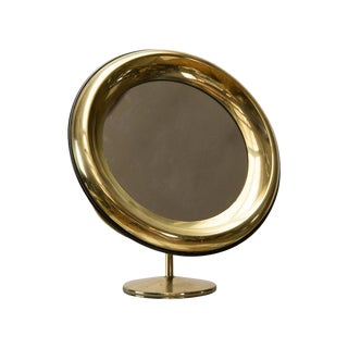 Italian Brass Vanity Mirror by Missaglia