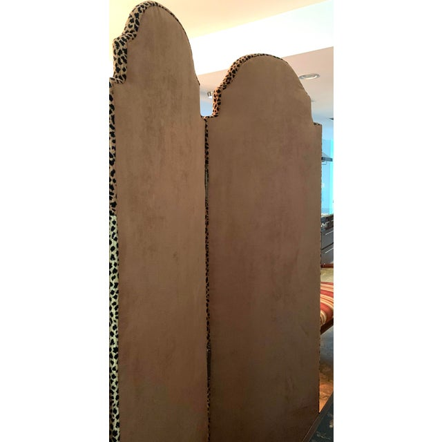 Animal Print Room Divider Screen For Sale - Image 4 of 5