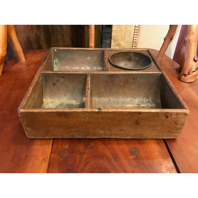 Copper Lined Cash Drawer Box For Sale - Image 4 of 10