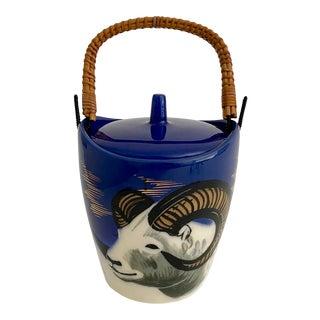 Vintage Michael Adams Alaska Pottery Ice Bucket For Sale