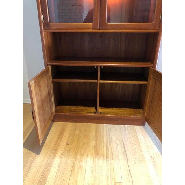 Mid-Century Modern Mid-Century Modern Dyrlund Solid Teak Hutch Display Cabinet For Sale - Image 3 of 4