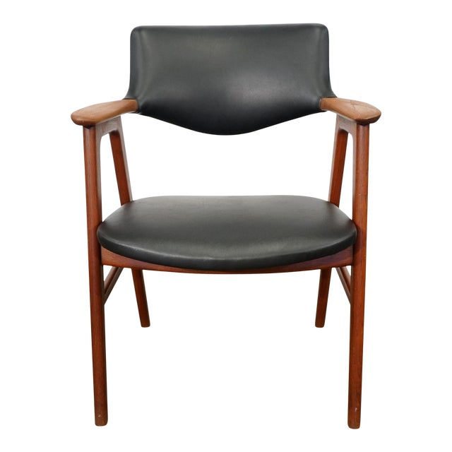 Mid Century Modern Erik Kirkegaard Desk Chair - Fjellerup For Sale