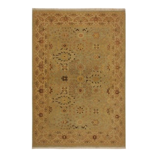 Istanbul Lakh Lt. Blue/Lt. Tan Turkish Hand-Knotted Rug -4'3 X 6'1 For Sale