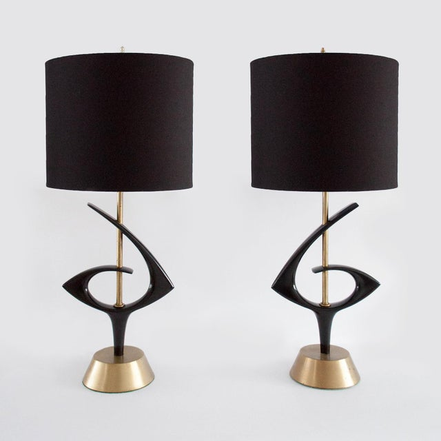 Rembrant Black Atomic Lamps - A Pair - Image 2 of 11