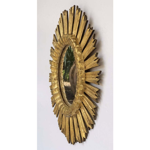 French French Gilt Starburst or Sunburst Mirror (Diameter 21) For Sale - Image 3 of 9