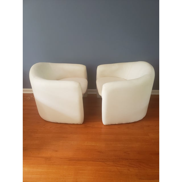 Contemporary 1980s Vintage Vladimir Kagan Sculptural Arm Chairs- A Pair For Sale - Image 3 of 13