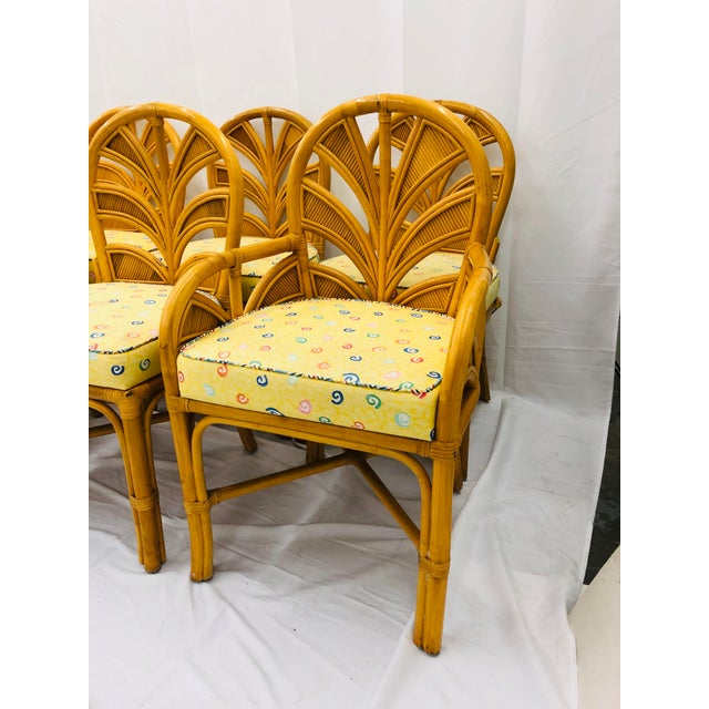 Wood Set of Eight Vintage Bent Rattan Chairs For Sale - Image 7 of 11