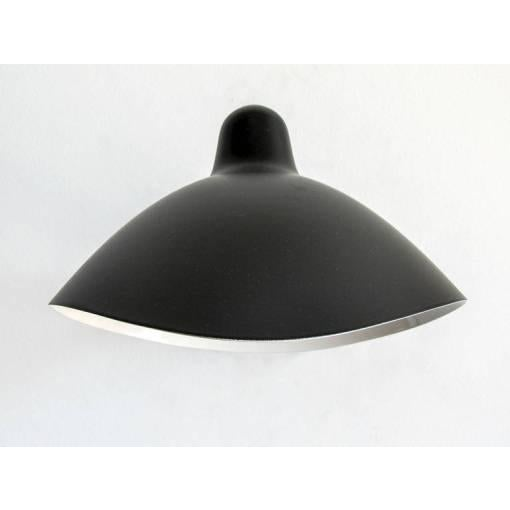 Serge Mouille Adjustable Black Metal Wall Light For Sale In Los Angeles - Image 6 of 10