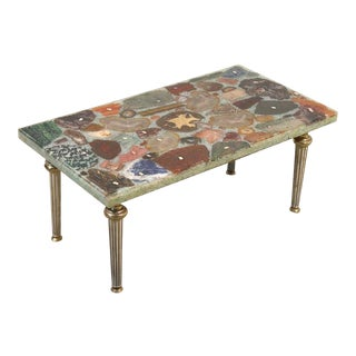 20th Century Folk Art Geode and Semi-Precious Stone Specimen Coffee Table For Sale