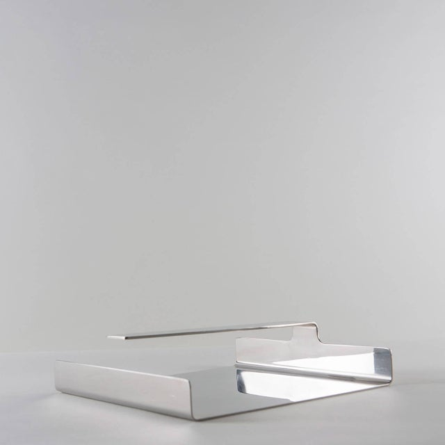 Set of Two Steel Desk Pieces by Mazza Gramigna for Krupp For Sale - Image 6 of 10