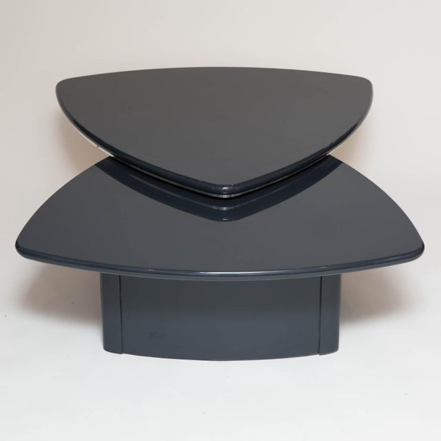Modern Butterfly Coffee Table In Grey Lacquer For Sale - Image 9 of 9