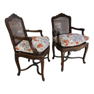French Caned Chairs - a Pair For Sale