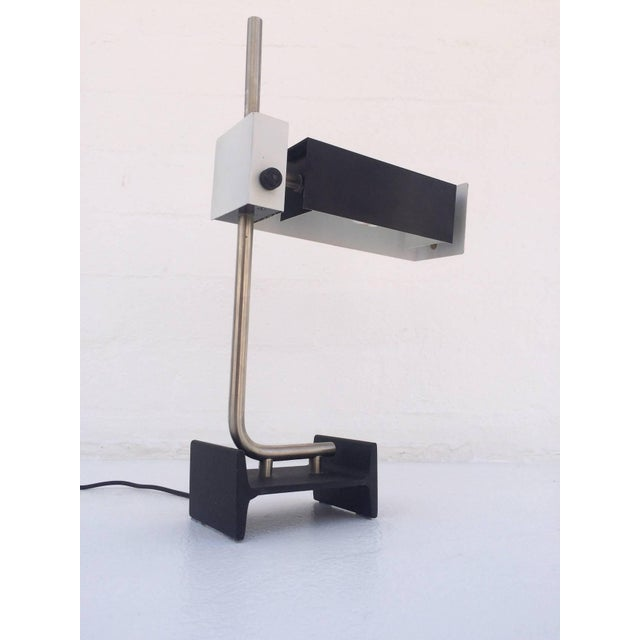 Gray Italian Table Lamp by Studio Reggiani For Sale - Image 8 of 8