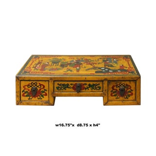 Chinese Yellow Lacquer Graphic Table Top Stand Display Easel Preview