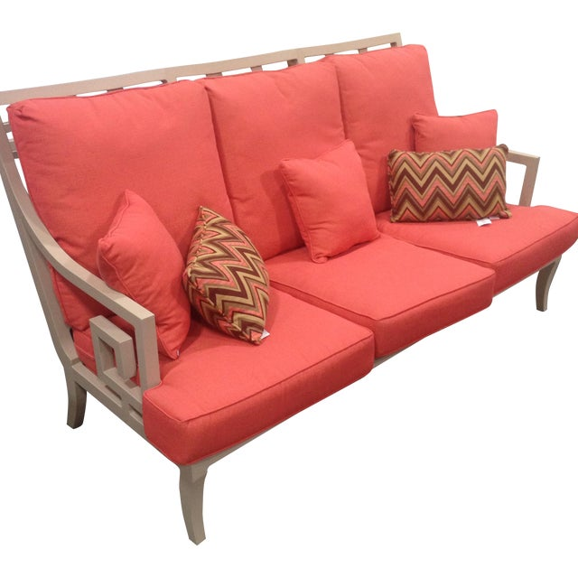 Lane Venture Outdoor Sofa, Peach Color For Sale